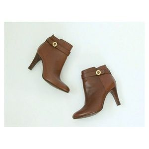 Tory Burch Ankle Boots Booties 6 Tan Brown